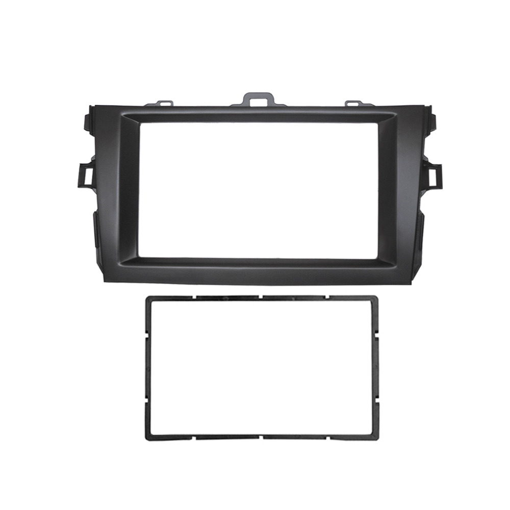 For Toyota Corolla Double Din Audio Fascia Radio GPS DVD Stereo CD Panel Dash Mount Installation Trim Kit Frame for honda civic hatchback 2012 double din fascia radio cd gps dvd stereo cd panel dash mount installation trim kit frame
