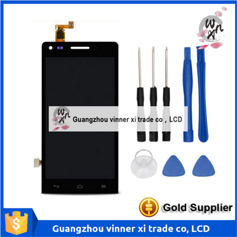 100% Tested New For Huawei Ascend G6 Black/White Touch Screen Digitizer + Original LCD Display Assembly replacement original touch screen lcd display assembly framefor huawei ascend p7 freeshipping
