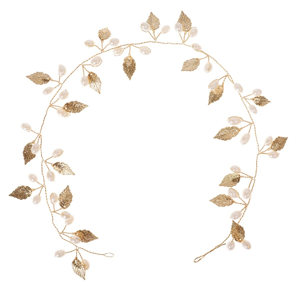 Aliexpress.com : Buy Leaves Shaped Imitation Pearl Hair