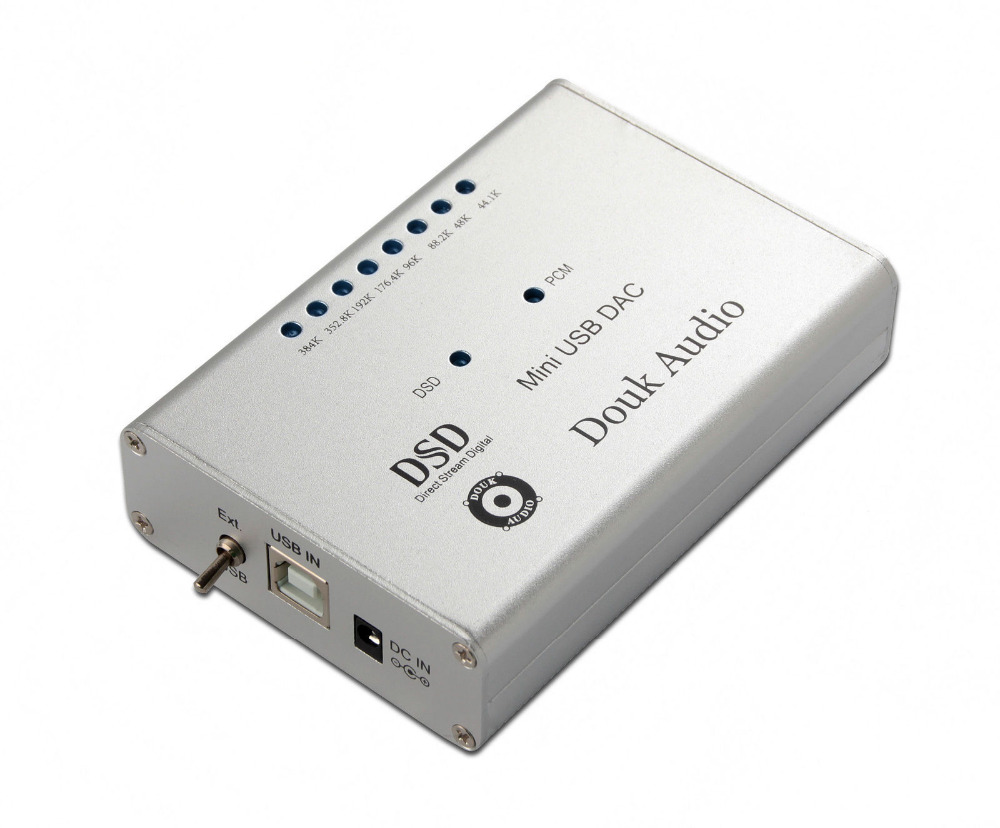 2018 New Douk Audio Mini DSD1796+XMOS-U8 384K/32bit USB DAC Audio Decoder HiFi Amplifier Free Shipping