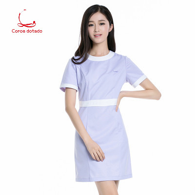 Slimming Doctor Suit Experiment Student Doctor Suit Nurse Pharmacy Beauty Salon Short Sleeve Work Clothes