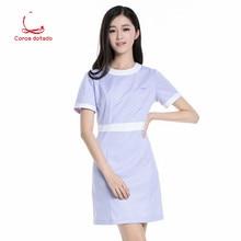 Slimming doctor suit experiment student nurse pharmacy beauty salon short sleeve work clothes