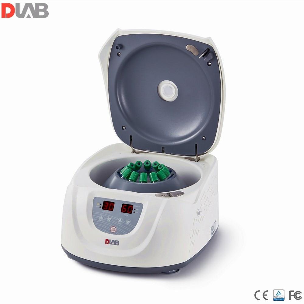 Centrifugeuse clinique 15ml * 8 ou 10 ml/7 ml/5 ml * 12 Dlab centrifugeuse de laboratoire à vitesse lente 300-4500 tr/min moteur à courant continu