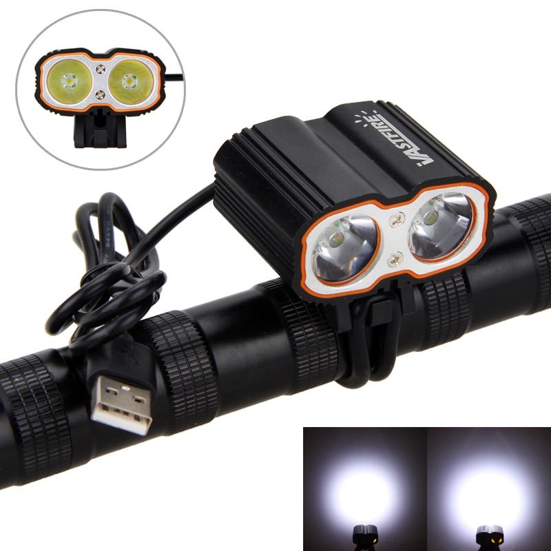 Front Bike Lamp 8000LM 2X XM-L T6 LED Cycling Headlights Bicycle Light Bike Headlamp USB 5V Port MTB Riding Lights