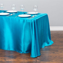 Rectangular Hotel Satin Table Cloth Tablecloths Table Cover Table Topper Table Overlay For Wedding Party Banquet Decoration