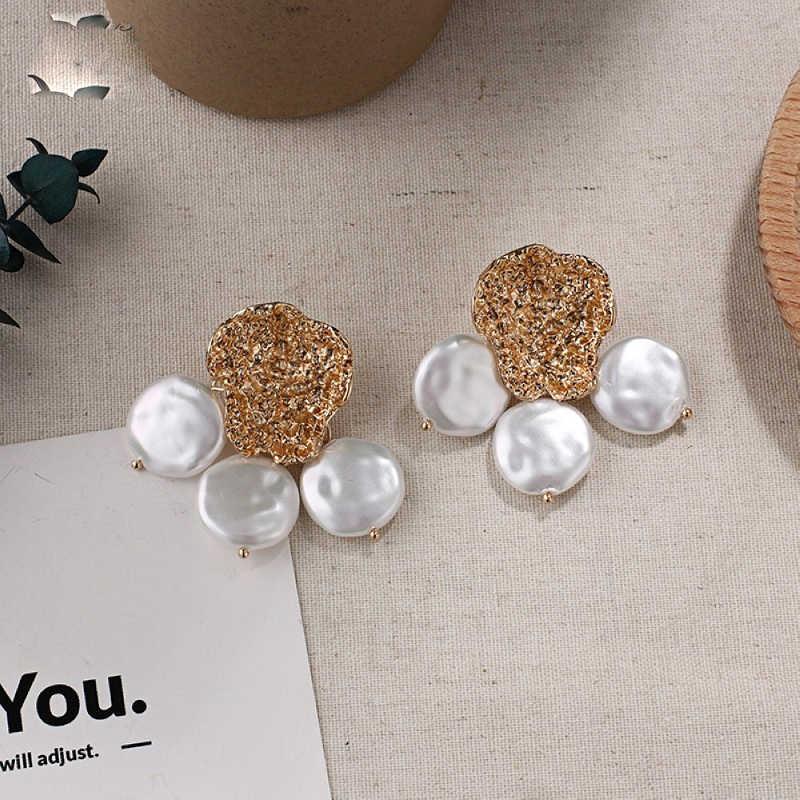Exknl 2019 Vintage Women Irregular Earrings Statement Fashion Dangle Gold color Tassel Boho Drop Jewelry Earrings For Women