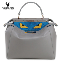 YUFANG Cow Leather Women Bag Sweet Style Women Handbag Soft Leather Ladies Crossbody Bag Little Monster