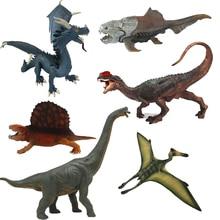 Jurassic Dinosaur Toys Animal Model PVC Action Figures Dinosaurs Blue Dragon Dunkleosteus Collection Gift Toys For Children #E
