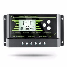 PWM 30A 20A 10A Solar Charge Controller 12V 24V Auto with Back-light LCD Display Dual USB 5V Solar Regulator Charger Z10 Z20 Z30