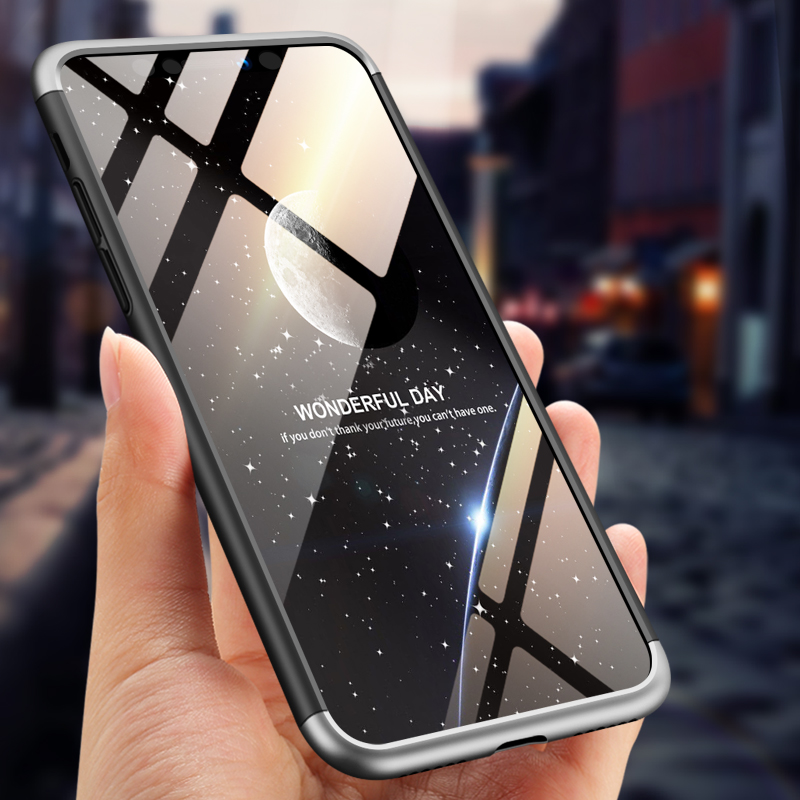 For iPhone XS Max 6.5inch Case 360 Degree Full Luxury 3-IN-1 Shockproof Frosted Shield Hard Back Cover Case For iPhone XSMaxCase (11)