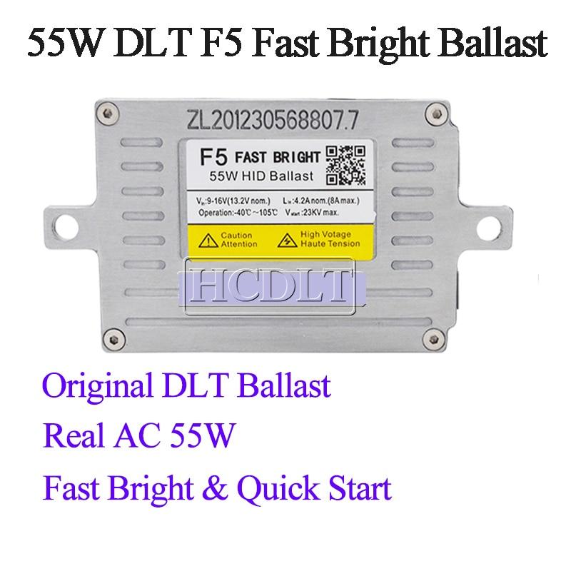 HCDLT AC 55W Fast Start HID Ballast DLT F5 Slim Reactor Block Ignition For 12V Car Light Headlamp Bulb Kit Xenon 55W HID Ballast (3)