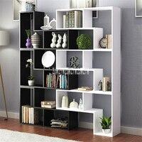 8859 Display Cabinet Multi Color Living Room Wine Cabinet Modern Bedroom Book Rack Children Landing Wooden Bookshelf Bookcase