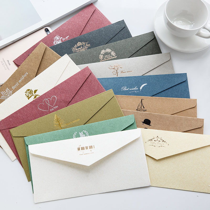 Color High-end Business Invitation Envelopes 5# Standard Envelope 110x220mm 50PCS