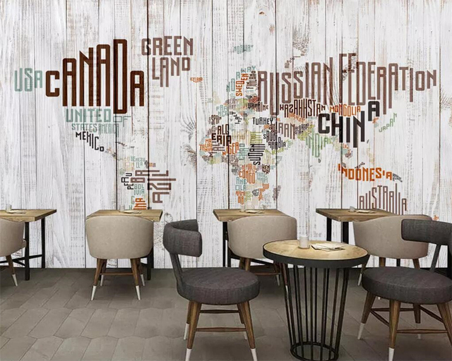 Beibehang custom wallpaper retro vintage english alphabet world map beibehang custom wallpaper retro vintage english alphabet world map wooden wall mural tv background wall murals gumiabroncs Image collections