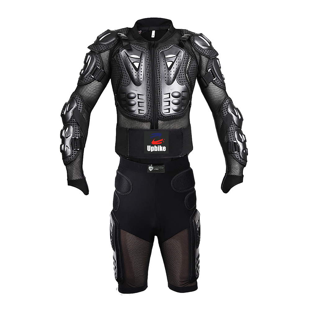 UPBIKE Motorcycle Racing Body Armor Protective Turtle Jacket moto Jackets +motobicycle Gears Shorts Pants motorcycle protective suit