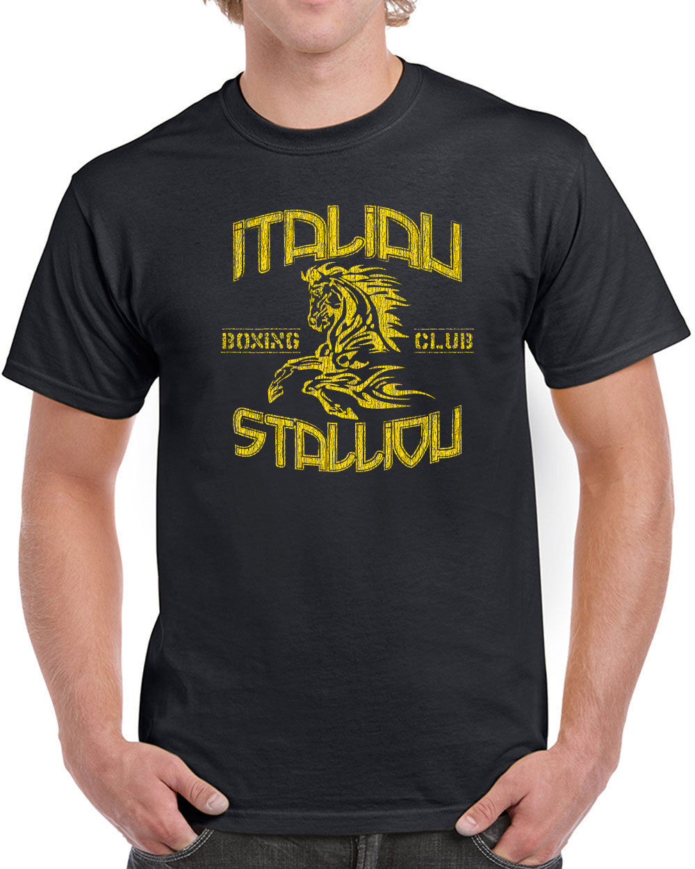 Shirt design vintage - Online T Shirts Design Crew Neck Short Sleeve Zomer Italian Stallion Funny Rocky Movie 70s