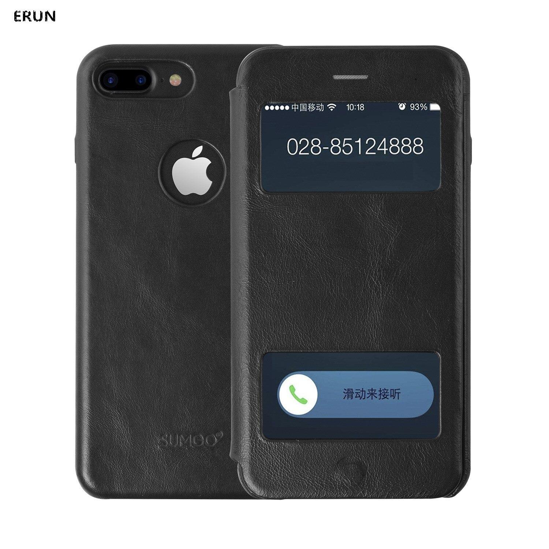 Portefeuille étui pour iphone 7/8 coque de téléphone en cuir fenêtre ouverte pour iphone 6 splus housse de protection contre la chute de la peau