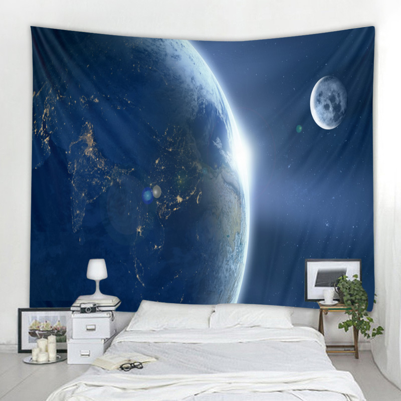 Galaxy Space Clouds Art Tapestry Black Hole Wall Hanging Star Nebula Psychedelic Wall Tapestries Boho Hippie Tapestry Custom DIY in Tapestry from Home Garden