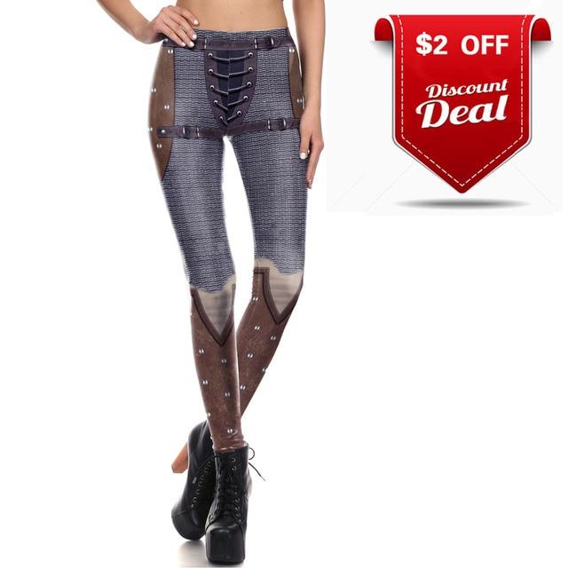 [You're My Secret] Retro Mesh Legging Women Armor Comic Cosplay Slim Leggings Women Digital Print Leggins Workout Fitness Pants 8
