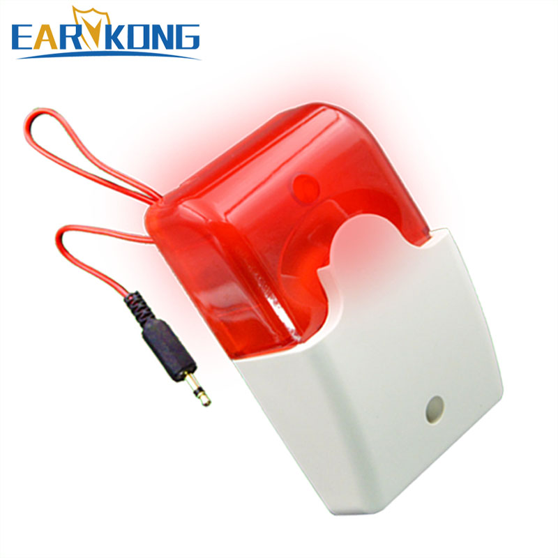 Free Shipping Wired Alarm Siren Strobe Alarm, Very Popular, For GSM / G90B Wifi / Home Burglar Alarm System, Earykong Brand