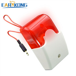 Free Shipping Wired Alarm Siren Strobe Alarm, Very Popular, For GSM / G90B wifi / Home Burglar Alarm System, Earykong Brand