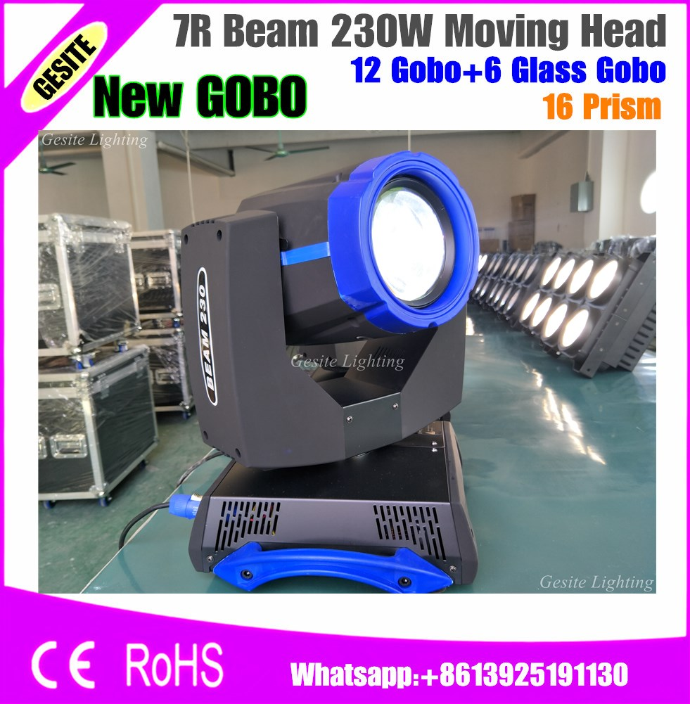 2pcs/lot Manufacture Rambo beam 230W 7R moving head sharpy dj light/Stage Lighting