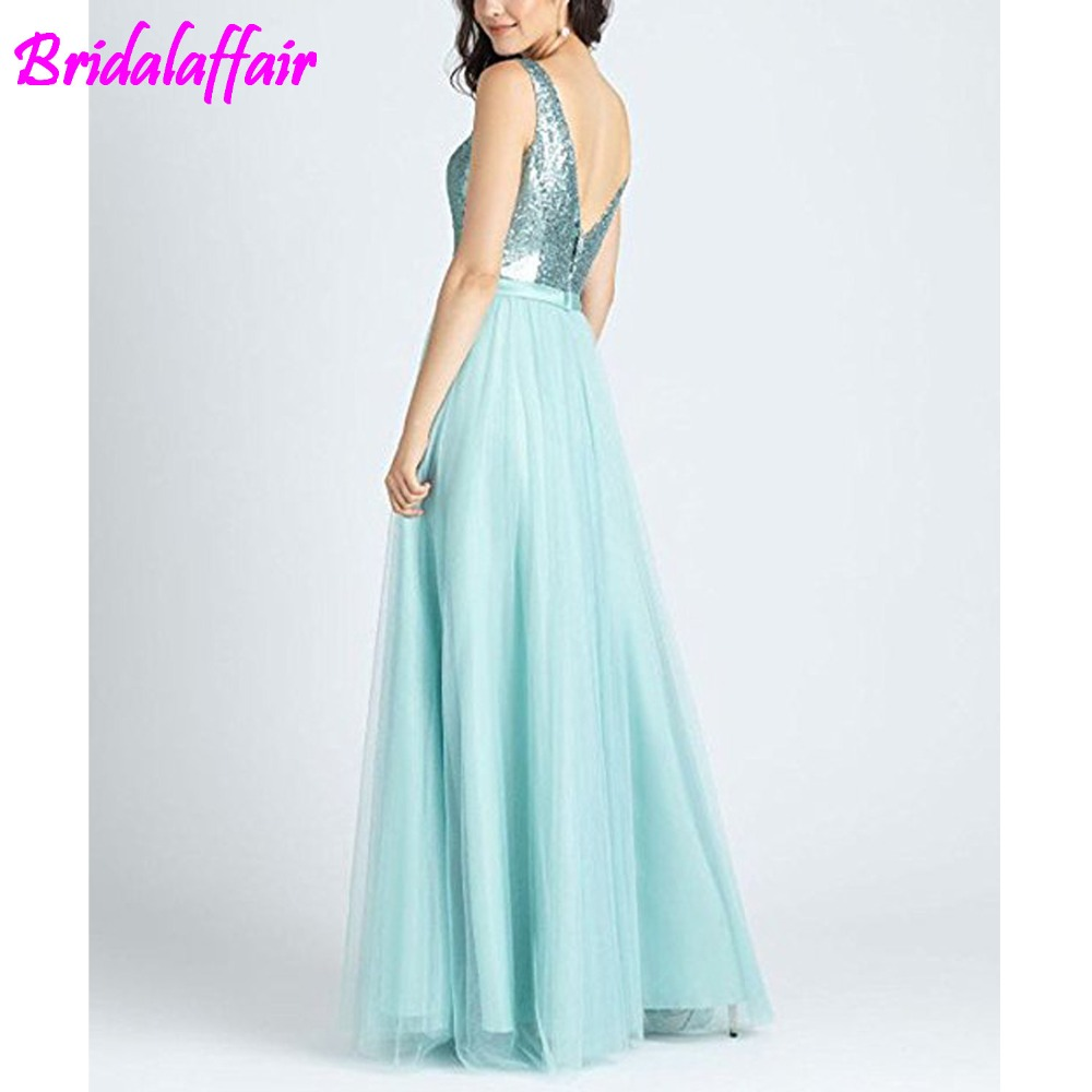 Women 39 s robe longue Sequin Dress V Neck Evening Prom Evening Dresses long dress vestido largo chiffon dress in Evening Dresses from Weddings amp Events