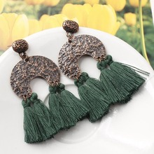 New Boho Tassel Drop Earrings for Women Vintage Bohemia Long Earring Ethnic Statement Fringed Earings Jewelry Accessories