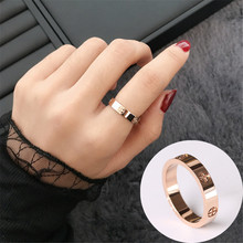 Обручальные кольца для женщин, розовое золото, нержавеющая сталь, серебряное кольцо для пары, ювелирные изделия anillos mujer bagues pour femme anel aneis anillo