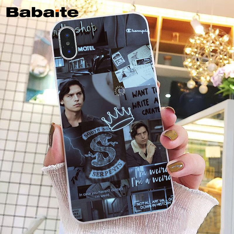 Babaite American TV Riverdale Series Cole Sprouse Phone Case for iphone 11 Pro 11Pro Max 8 7 6 6S Plus 5 5S SE XR X XS MAX in Half wrapped Cases from Cellphones Telecommunications