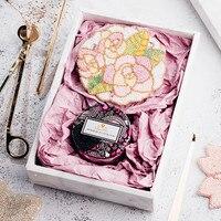 Cocostyles индивидуальные ins превосходное Мода чудесные Подарочная коробка с блеск цветок артефакт для душа ребенка вечерние события