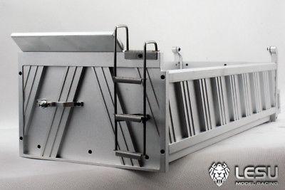 Lesu 450 Mm Metall Fracht Behälter Eimer Eine Für Rc 8*8 Dumper 1/14 Lkw Tamiya Th02026 Fernbedienung Spielzeug