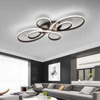 Lican lustres de iluminação para sala estar em casa dec lustre plafonnier teto branco aluminu iluminação lustre avize luminarine