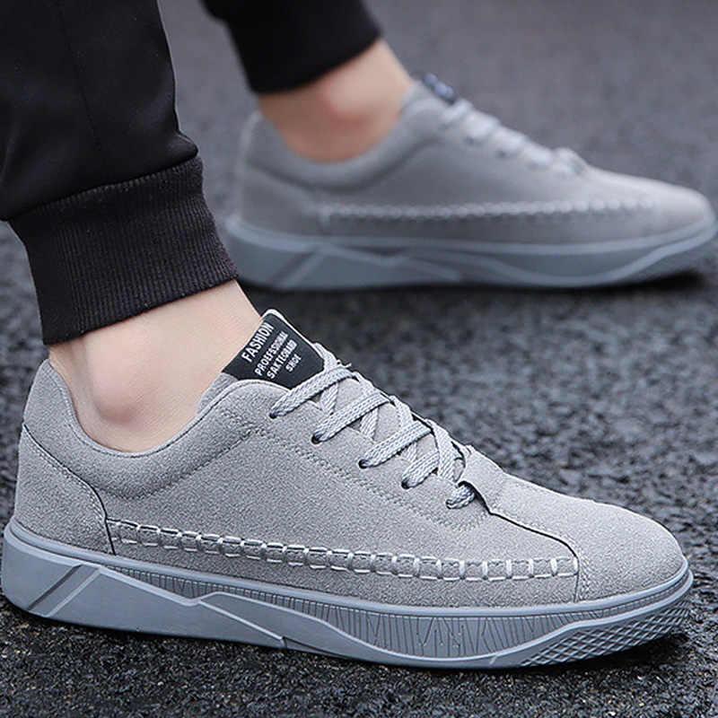LAKESHI Mann Casual Schuhe Männer der Vulkanisieren Schuhe Lace-up Solide Shallow Mode Männlichen Turnschuhe Baumwolle Stoff Komfortable Männer schuhe