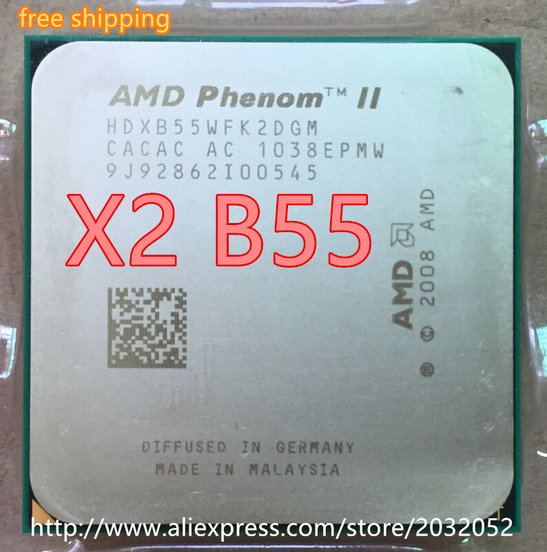 Amd Phenom Ii X2 B55 Cpu Processor Dual Core 3 0ghz 6m 80w 2000ghz Socket Am3 Am2 Working 100 Free Shipping Phenom Ii X2 Amd Phenom Ii X2amd Phenom Aliexpress
