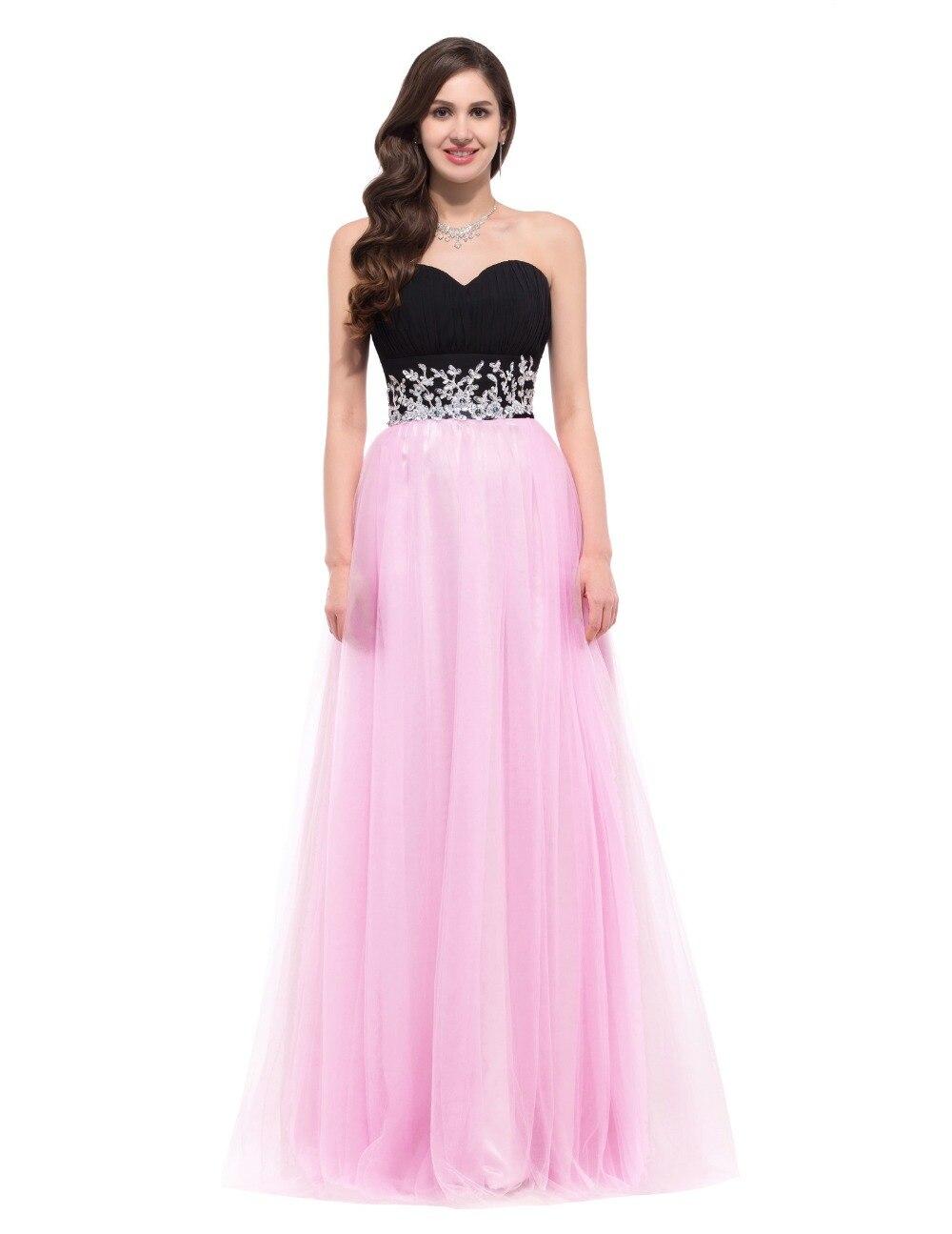 Pink black dress long - Style dresses magazine