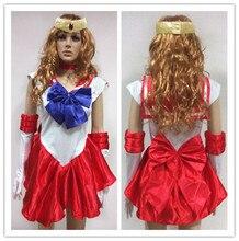 Косплей Sailor Moon Платье Студент Плюс Размер Аниме Косплей Disfraces Карнавал Болельщицы Костюмы Sailor Moon Косплей Костюм