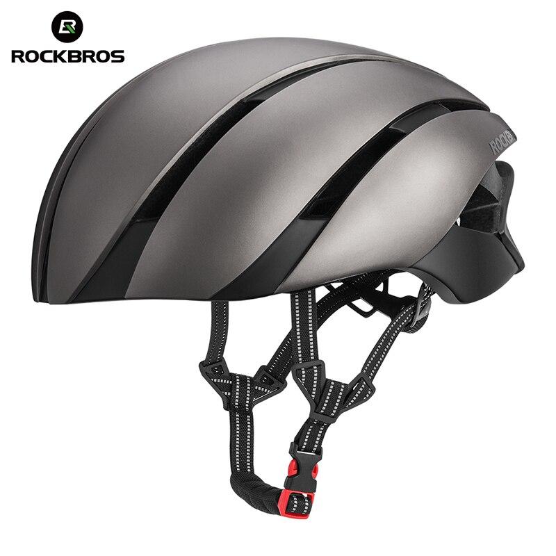 ROCKBROS Сверхлегкий велосипедный шлем Велоспорт EPS интегрально-литой шлем светоотражающий Mtb велосипедный защитный шлем для мужчин женщин 57-62 ...