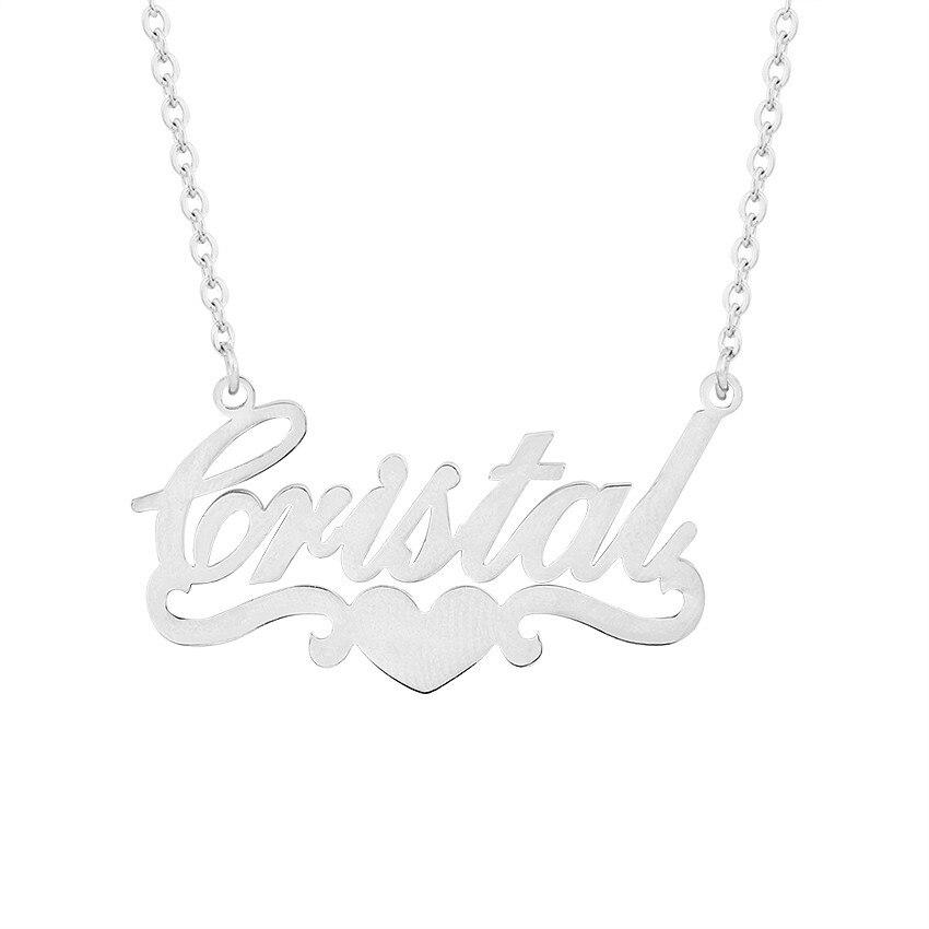84cc111f1b29 Joyería personalizada cualquier nombre personalizado collares de los  hombres de las mujeres de plata de oro