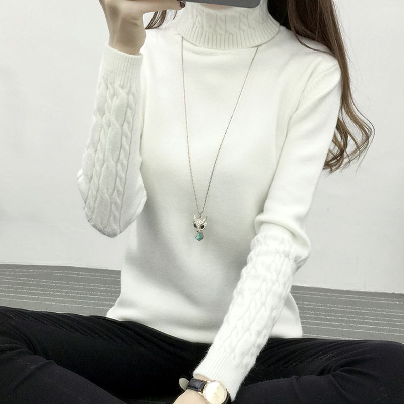 Sweater Turtleneck Blouse Coat Pullovers Kint Cashmere Female Sexy Fashion Autumn Winter Women