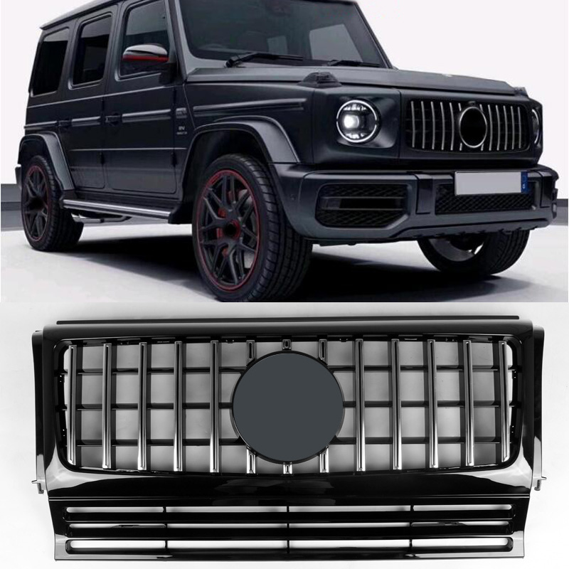 GT-R Style vertical bar ABS Silver Grille Fit For BENZ W463 G350 G500
