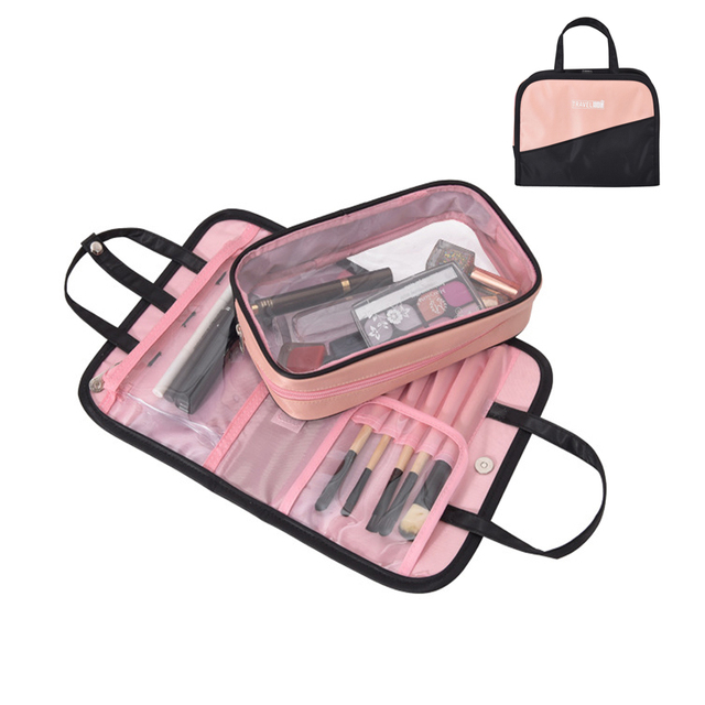 Waterproof Travel Storage Bag 2 in 1 Cosmetic Bag High Capacity Make Up Organizer Portable Wash Bags necessarie para maquiagem