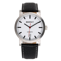 Automatic Mechanical SelfWind 2017 Mens Watches Top Brand Luxury Leather Business Quartz Watch Men Auto Wrist