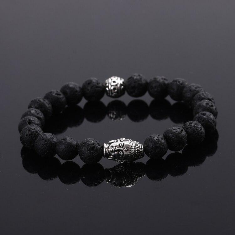 2016 New Natural stone buddha beads bracelet&bangles elastic rope chain charm bracelet for women jewelry Pulseras mujer