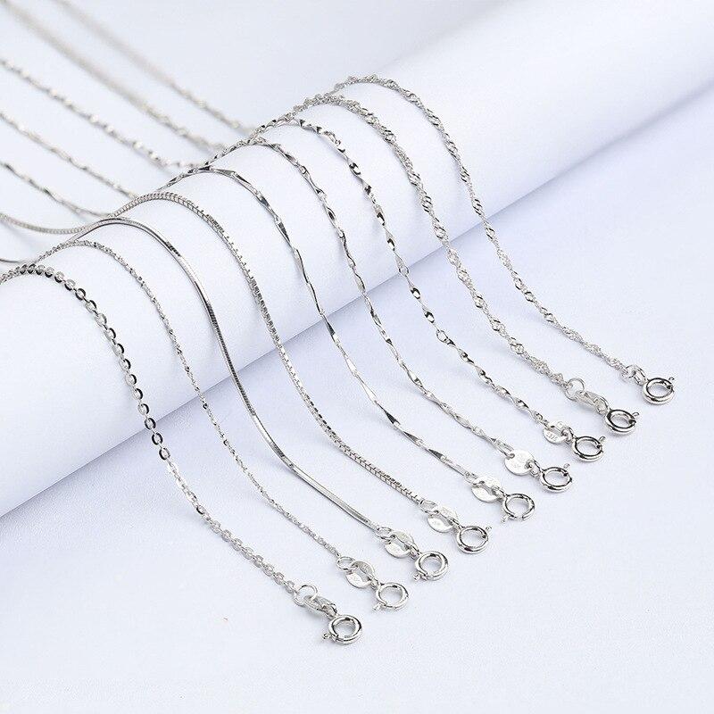 Κλασικό βασικό αλυσίδα κολιέ 100% 925 - Κοσμήματα μόδας - Φωτογραφία 3