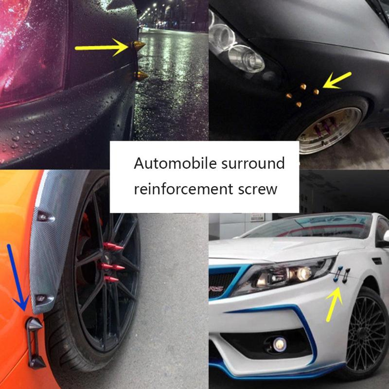 1 Set Car Auto Front Bumper Trunk Lids Fender Spike Quick Release Fastener Kit High Quality Accessory Clip New