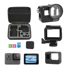 цена на CNC Aluminum Alloy Cage Accessories Set for GoPro Hero 7 6 5 Black Protective Housing Case for Go Pro Hero 7 Action Camera