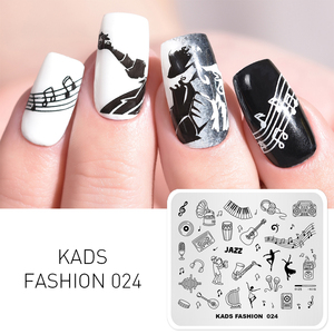 New Arrival Nail Stamp Template Tiny Musical Instruments Stamping Printer Plates Stencil for Nails Nail Art Design 3D Mold(China)