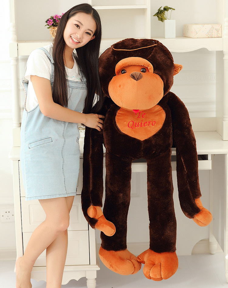 100% new style large 130cm long arms brown monkey plush toy soft throw pillow birthday gift b1315100% new style large 130cm long arms brown monkey plush toy soft throw pillow birthday gift b1315