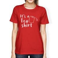 それのティーシャツ女性の赤いtシャツかわいいグラフィックデザインtシャツ面白いtシャツ女性ヒップスター綿カジュアルなトップスティー漫